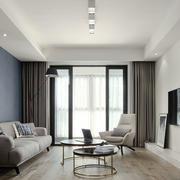 简单宽敞现代风格客厅设计装修图