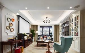 美式精美温馨书房设计装修效果图