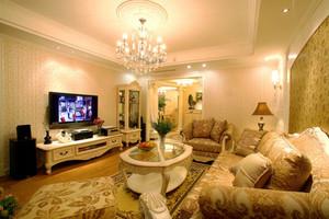 欧式风格温馨甜美两室两厅一卫设计装修效果图