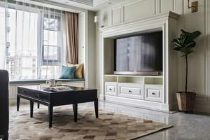 白色精美欧式电视背景设计装修效果图