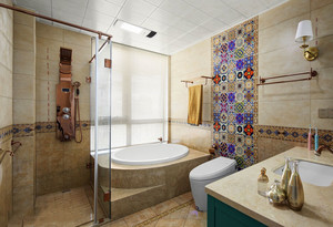 8平米欧式风格精美卫生间装修图