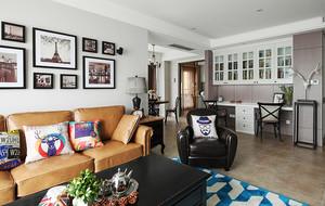 现代美式风格温馨三室两厅室内装修效果图