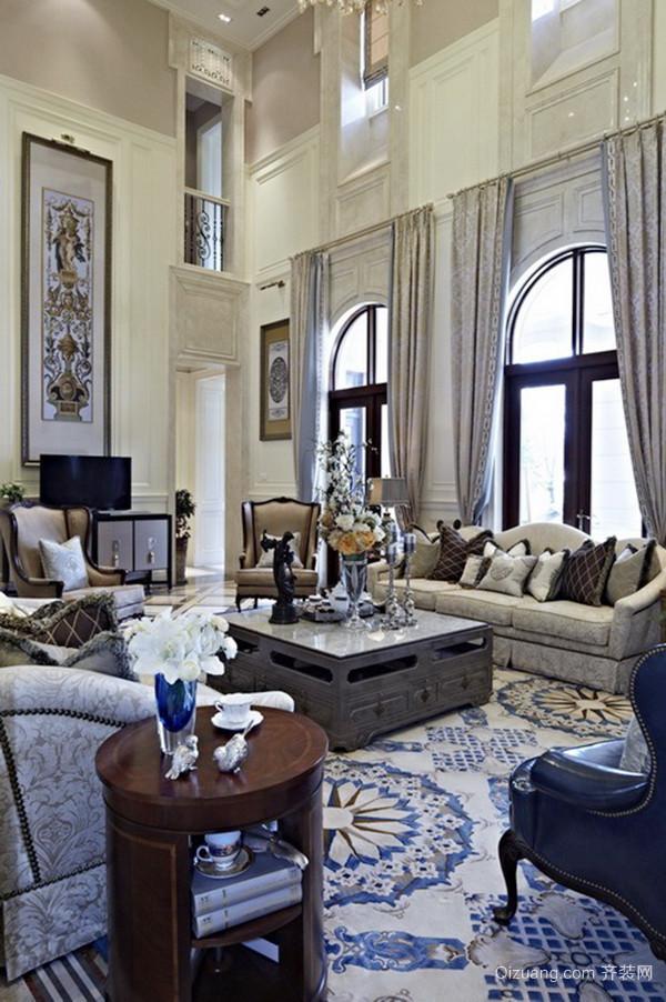 256平米美式风格别墅室内设计装修效果图