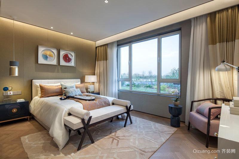 中式风格素雅精美卧室设计装修图