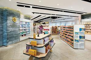 100平米简约超市货架设计装修效果图