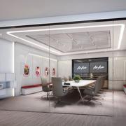 简约实用小型会议室设计装修效果图
