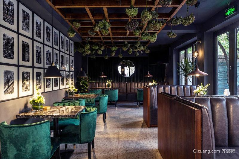 时尚精美美式风格西餐厅设计装修图