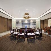中式古典精致酒店包厢设计装修效果图
