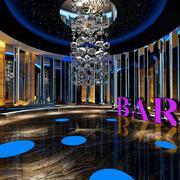 现代时尚音乐酒吧室内设计装修效果图