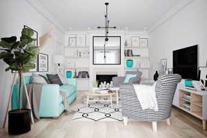 58平米北欧风格精美单身公寓装修效果图