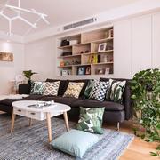 简约北欧风格客厅书房设计装修图