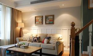 152平米精致美式风格复式楼室内装修效果图