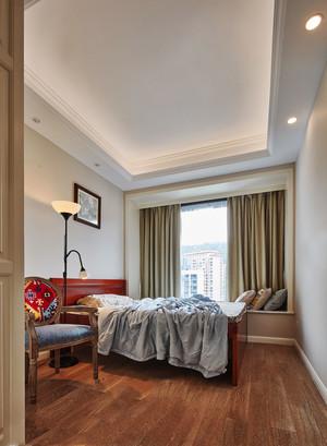 精美温馨美式风格卧室飘窗设计装修图