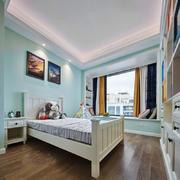 清新蓝色精美儿童房设计装修效果图赏析