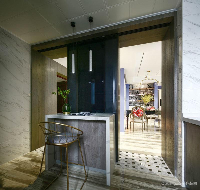 精美时尚现代风格吧台设计装修效果图