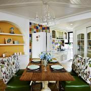 温馨自然田园风格餐厅装修设计