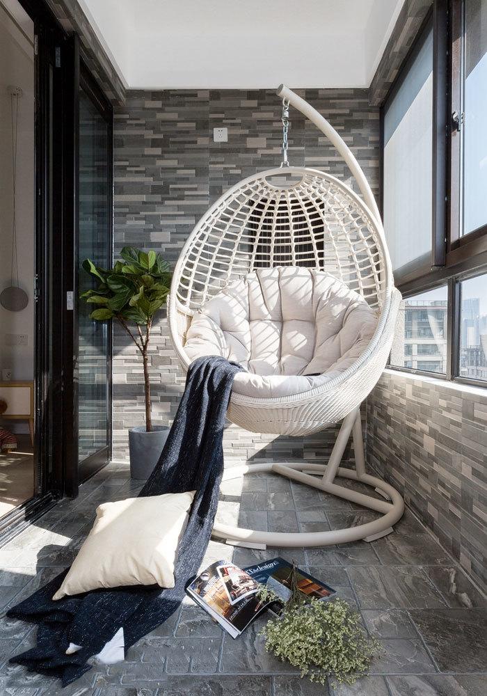 简约风格温馨休闲阳台设计装修效果图