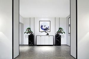 新中式风格简单温馨玄关柜设计效果图