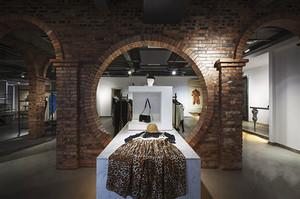 乡村风格创意服装店设计装修效果图