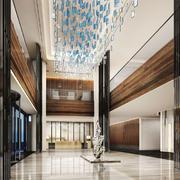 新中式风格奢华酒店大堂设计装修图