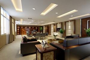 40平米中式风格老总办公室设计装修图