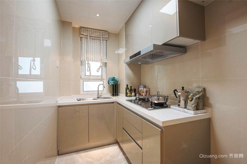 简约风格浅色小户型厨房装修效果图