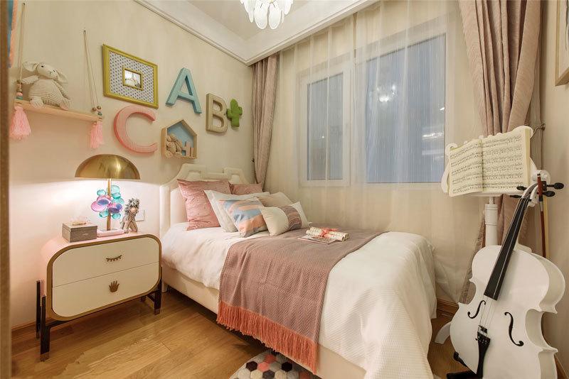 16平米欧式风格女孩儿童房设计装修图