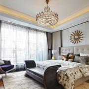 温馨时尚简欧风卧室设计装修效果图