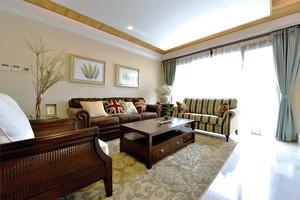 现代美式风格精美90平米室内设计装修效果图