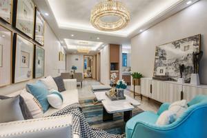 欧式风格清新精美客厅设计装修效果图