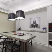 现代风格简约小户型餐厅设计装修效果图