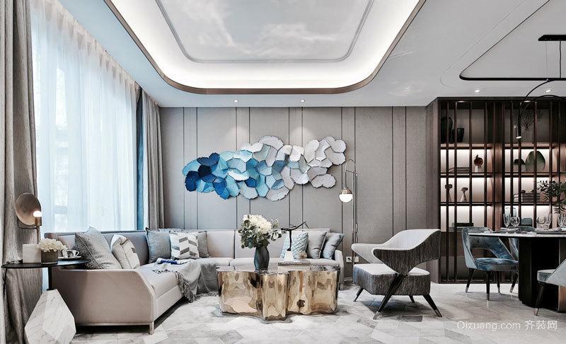 时尚精美新中式风格客厅设计装修效果图