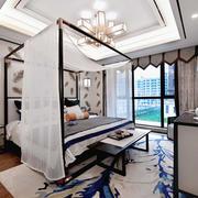 古色古香中式风格经典卧室装修效果图