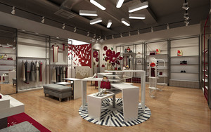 65平米简约风格服装店设计装修图