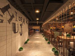 清新舒适简约风格咖啡厅设计装修图