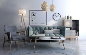 浅色温馨北欧风格小户型客厅装修效果图