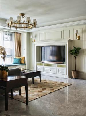 欧式风格精致客厅电视背景墙设计装修图