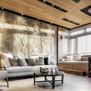 个性简单时尚后现代风格客厅装修效果图