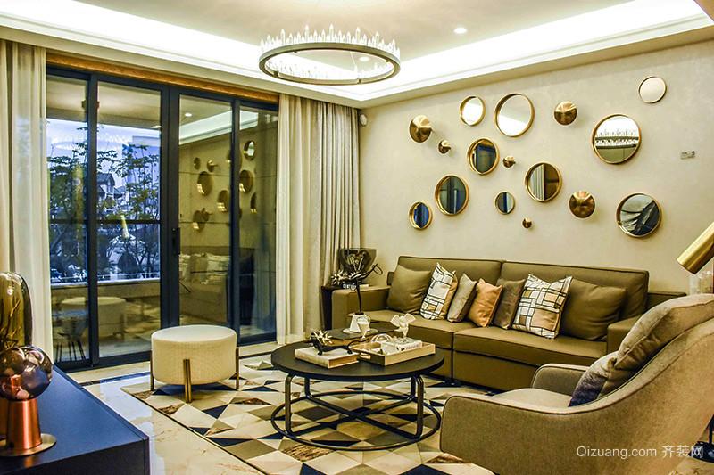 简欧风格时尚精美三室两厅两卫装修效果图
