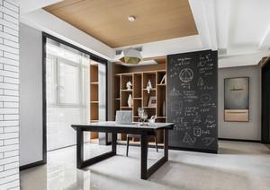 现代简约风格简单书房设计装修实景图