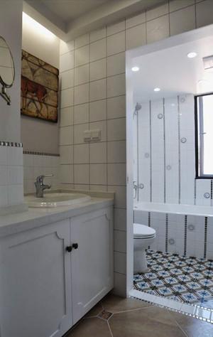 现代美式风格舒适两室两厅两卫装修效果图