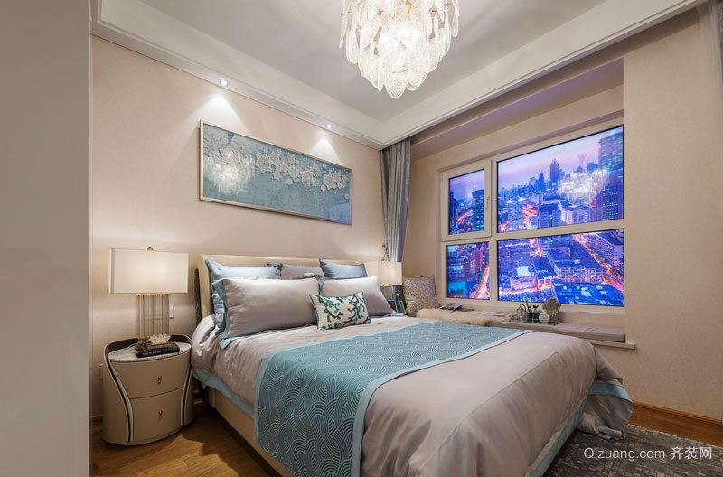 20平米简欧风格温馨卧室装修效果图