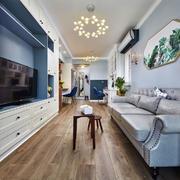现代美式风格精美客厅设计装修效果图