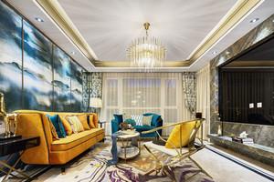 时尚精美新古典主义风格客厅装修效果图