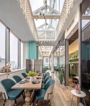 欧式风格高雅西餐厅设计装修图