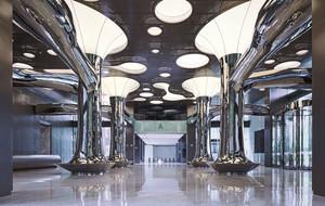现代风格时尚大气酒店大堂设计装修图