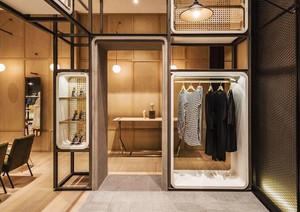 52平米简约风格服装店装修图