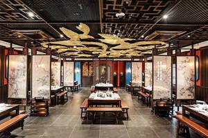 中式风格特色时尚火锅店设计装修效果图