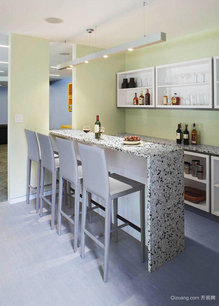 现代风格清新时尚家装吧台装修效果图