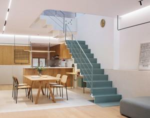 宜家风格简约原木色餐厅设计装修图